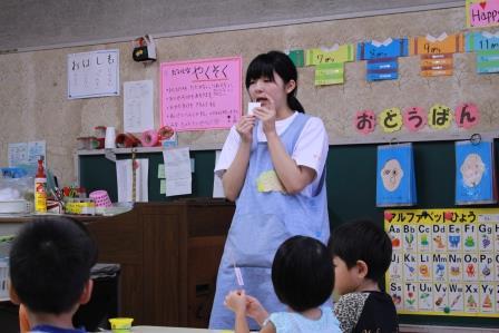 保育所実習です。子どもたちの前に立つ姿にも少し余裕が出てきました
