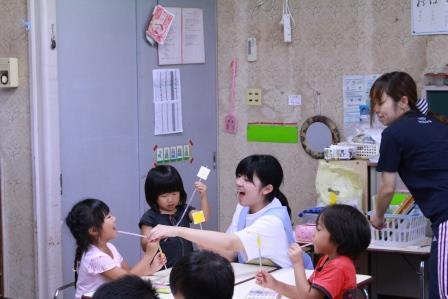 一人ひとりの子どもたちと接する時の表情が一番輝いています