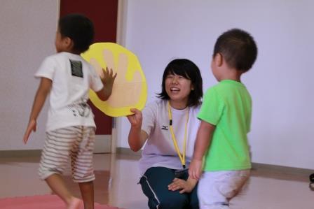 元気な子どもたちを見ていると、自然に笑顔があふれます